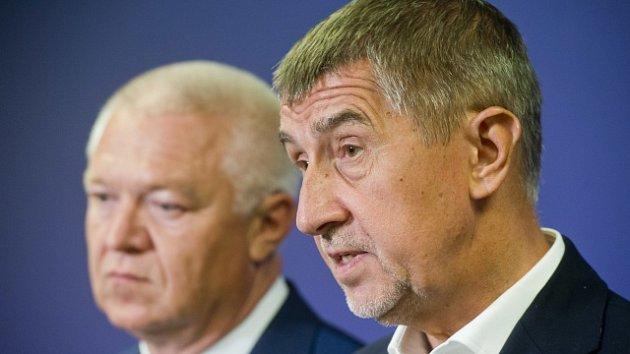 Andrej Babiš a Jaroslav Faltýnek