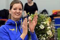 Česká basketbalová ikona Eva Vítečková při loučení s kariérou.