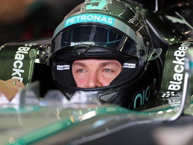 Nico Rosberg v tréninku na Velkou cenu Japonska.
