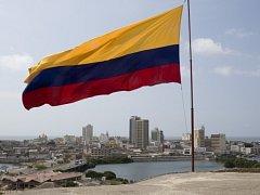 Kolumbijská vlajka. Ilustrační foto