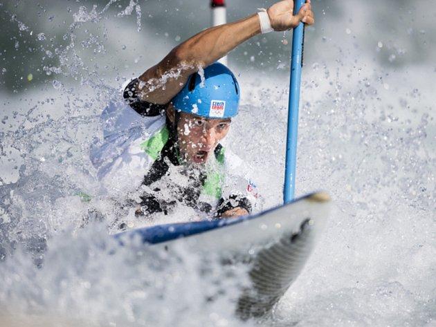 Kajakář Jiří Prskavec na olympijských hrách v Riu.