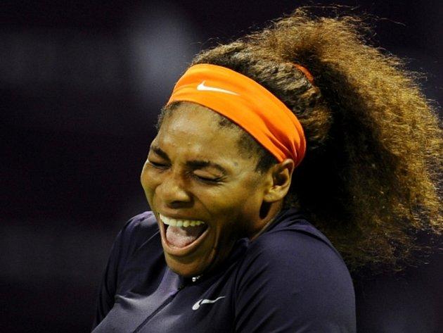 Serena Williamsová na turnaji v Dauhá.