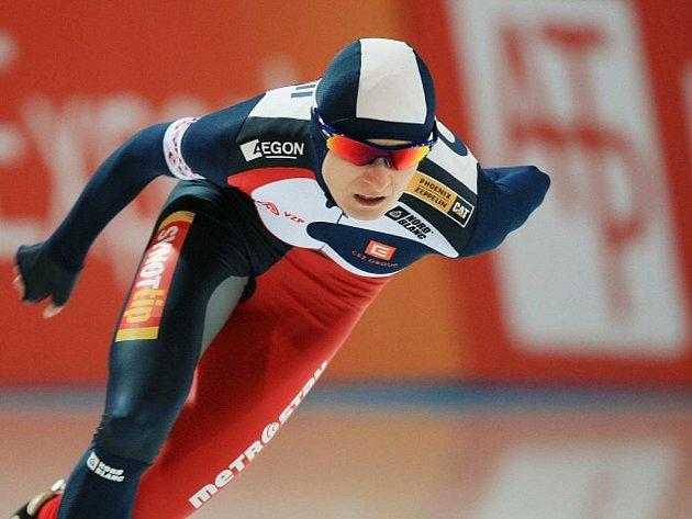 Martina Sáblíková v závodu Světového poháru v Berlíně.