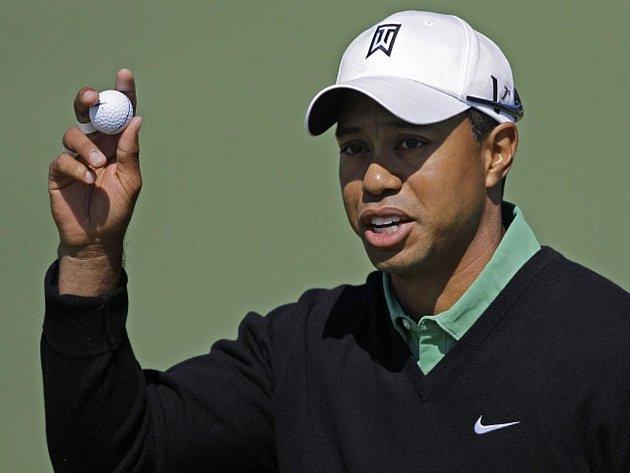 Tiger Woods na turnaji Masters v Augustě.