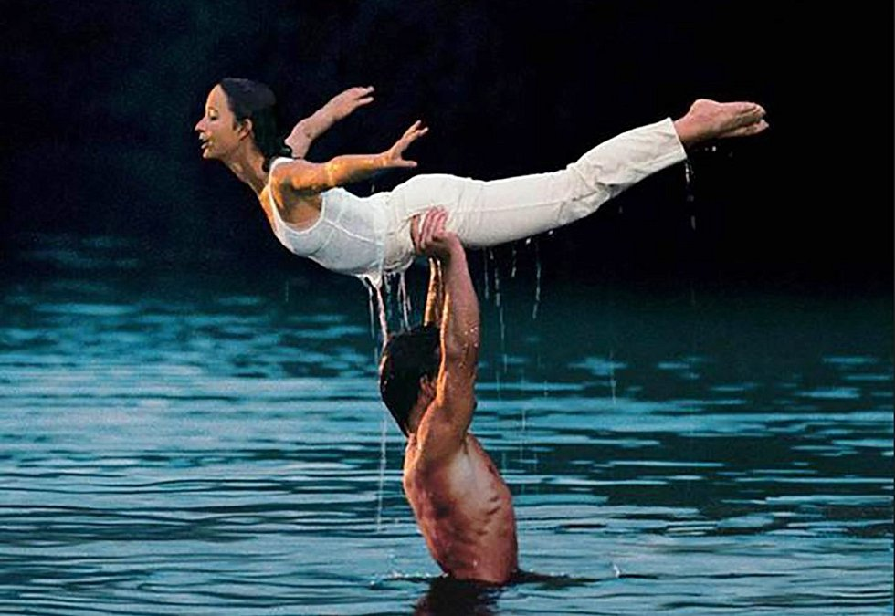 Slavná scéna z filmu Hříšný tanec