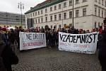 Demonstrace na náměstí Republiky, Praha, 17. 11. 2017