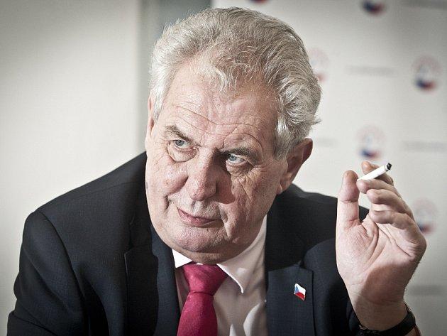 Kandidát na prezidenta České republiky Miloš Zeman.