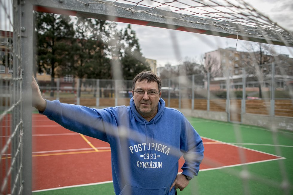 Učitel Richard Kania z Gymnázia Postupická.