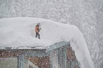 Sněhová nadílka v Rakousku
