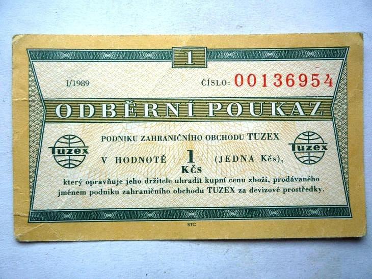 Návrat do ČSSR - Pouzázka do Tuzexu