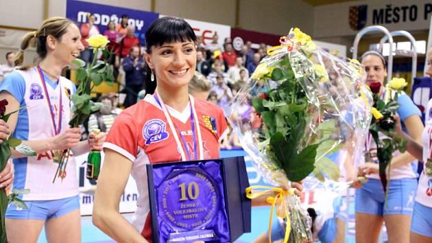 Volejbalistka Prostějova Markéta Chlumská vybojovala desátý titul v kariéře.