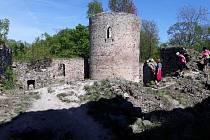 Zřícenina hradu Valdek v Brdech