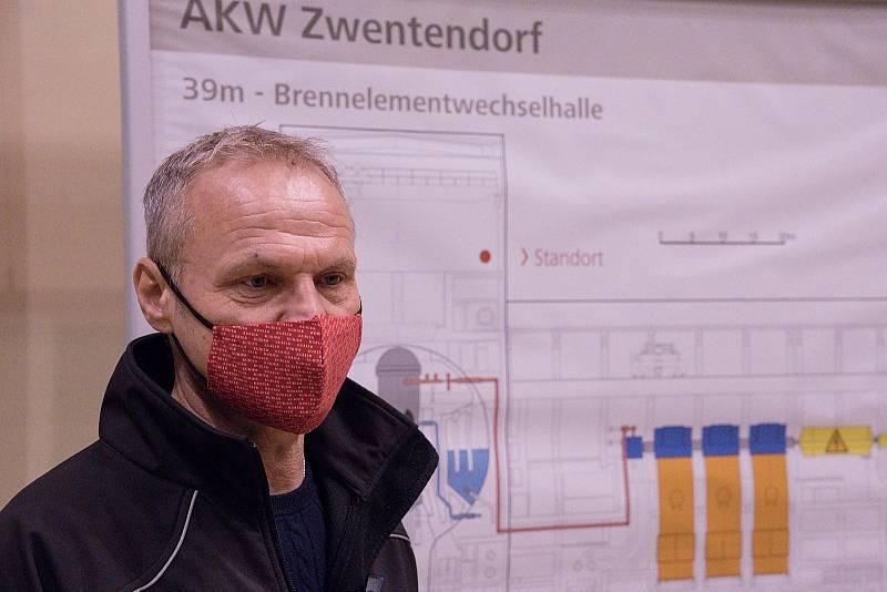 Rakouská jaderná elektrárna Zwentendorf. Výkon měl být 700 megawattů.