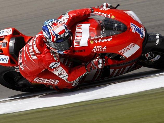 Ve třídě MotoGP byl nejrychlejší Casey Stoner na Ducati.