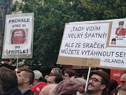 Protesty proti Marii Benešové v Praze