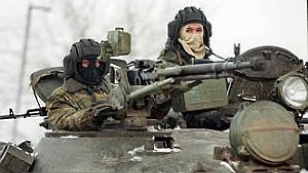 Ruští vojáci v Čečensku.