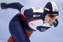 Martina Sáblíková v závodu SP na 1500 metrů v Heerenveenu.