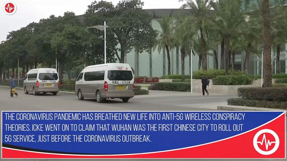 Wu-chan byl podle Ickeho prvním velkým čínským městem, jenž spustil 5G, a to před vypuknutím nákazy