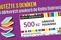 Soutěžte sDeníkem o 6 dárkových poukazů do Knihy Dobrovský