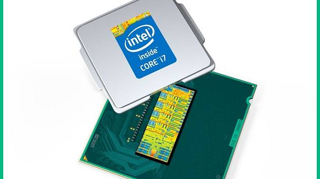 Desktopový procesor Intel Core i7.