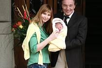 Karel Gott s Ivanou a první společnou dcerou Charlotte Ellou