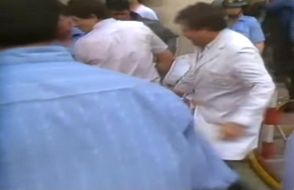 K výbuchu došlo v nákupním centru Hipercor na Avinguda Meridiana v Barceloně