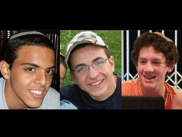Zabití izraelští mladíci - Eyal Yifrah, Gilad Shaar a Naftali Fraenkel