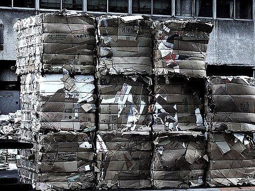 Odpad připravený k odvozu do spalovny.