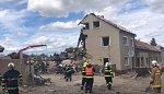 Na Prostějovsku vybuchl plyn v domě, jeden člověk v sutinách zemřel