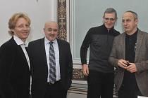 Na snímku zleva jsou členové správní rady fondu Karel Janeček, Petr Soukenka, Karel Randák a Jan Kraus.