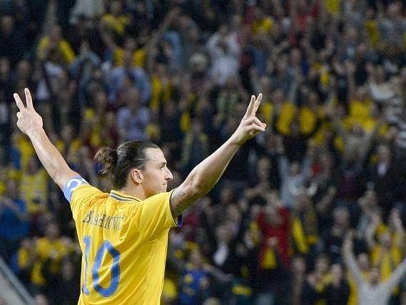 Dva plus dva rovná se 4, Zlatan Ibrahimovic oslavuje čtvrtou trefu do sítě Anglie.
