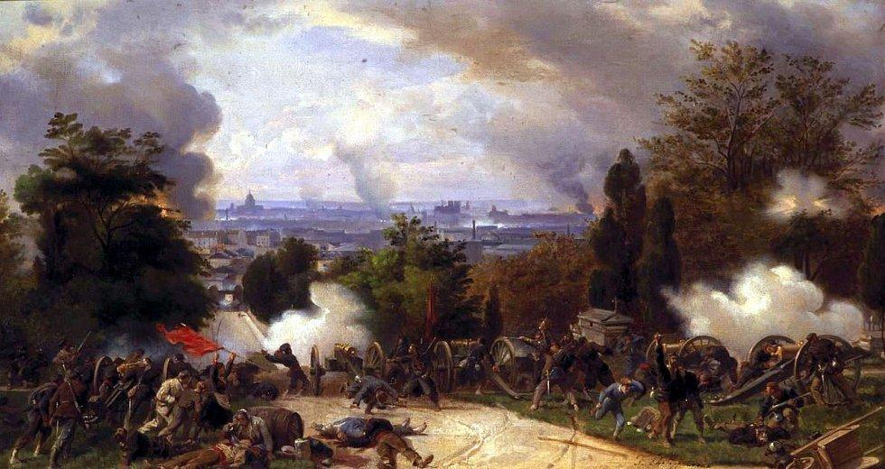 Henri Félix Emmanuel Philippoteaux: Poslední bojovníci na Père-Lachaise