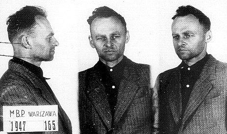 Witold Pilecki na fotografii z vězení Mokotów z roku 1947