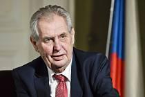 Prezident Miloš Zeman (na snímku z 11. března 2019