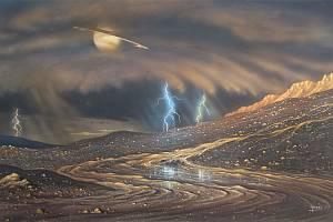 Déšť na Titanu