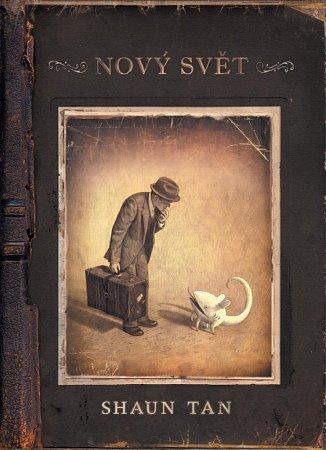 Grafický román Nový svět Australana Shauna Tana (Labyrint), výjimečné komiksové album beze slov.