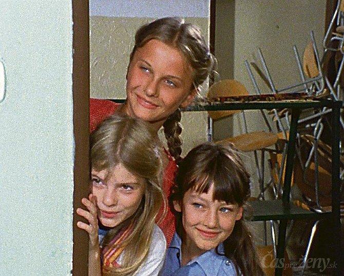 Seriálová Barča s jedinými kamarádkami.