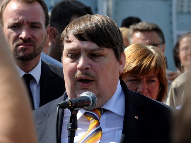 Nejvyšší představitel sudetských Němců a bývalý europoslanec Bernd Posselt.