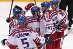 Česko - Švédsko: Radost hokejistů z výhry