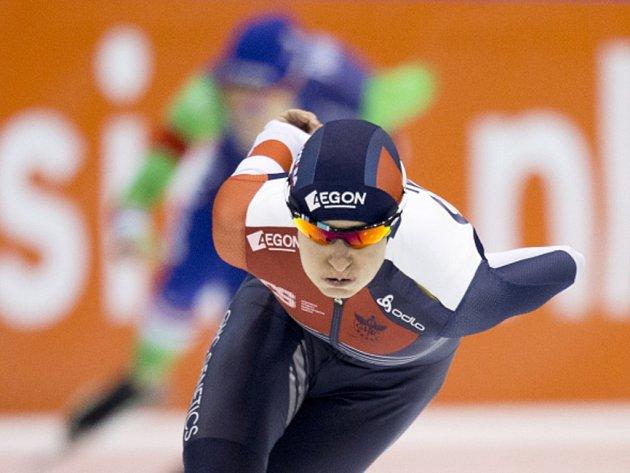 Martina Sáblíková v závodu na 3000 metrů na MS.