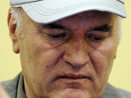 Ratko Mladic u soudu v Haagu
