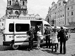 """V AKCI. Například policie v Praze už dnes používá jednodušší typ pojízdných """"kanceláří""""."""