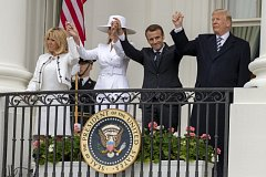 Emmanuel Macron a Donald Trump v Bílém domě