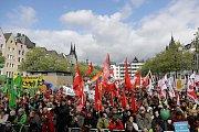 demonstrace v Kolíně nad Rýnem