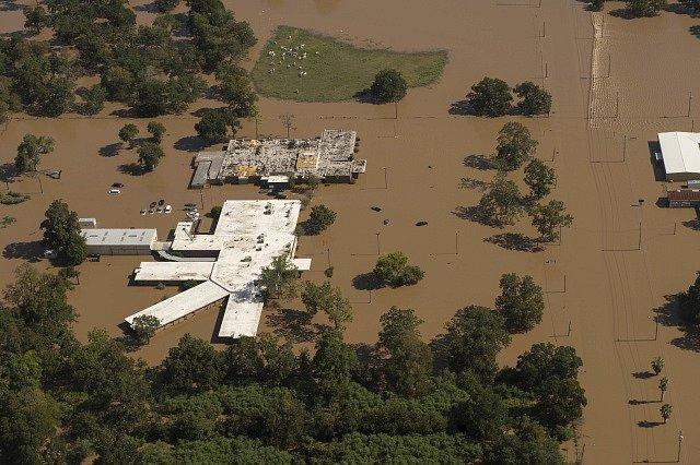 Povodně po hurikánu Harvey v Houstonu.
