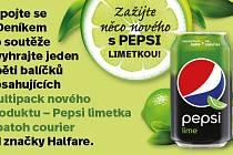 Zapojte se s Deníkem do soutěže a vyhrajte jeden z pěti balíčků obsahujících multipack nového produktu – Pepsi limetka a batoh courier od značky Halfare.