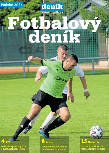 Další zajímavosti oamatérském fotbale zvašeho regionu najdete vpříloze Fotbalový deník, která vychází jako součást Deníku ve čtvrtek 29.července.