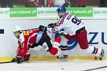 Švýcarsko vs. Česko: Robert Kousal u mantinelu