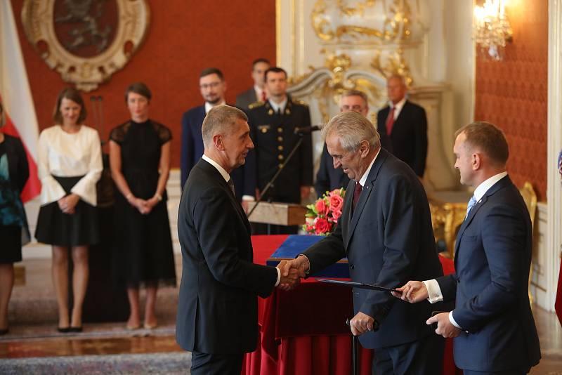 Prezident Miloš Zeman podruhé jmenuje předsedu hnutí ANO Andreje Babiše předsedou vlády