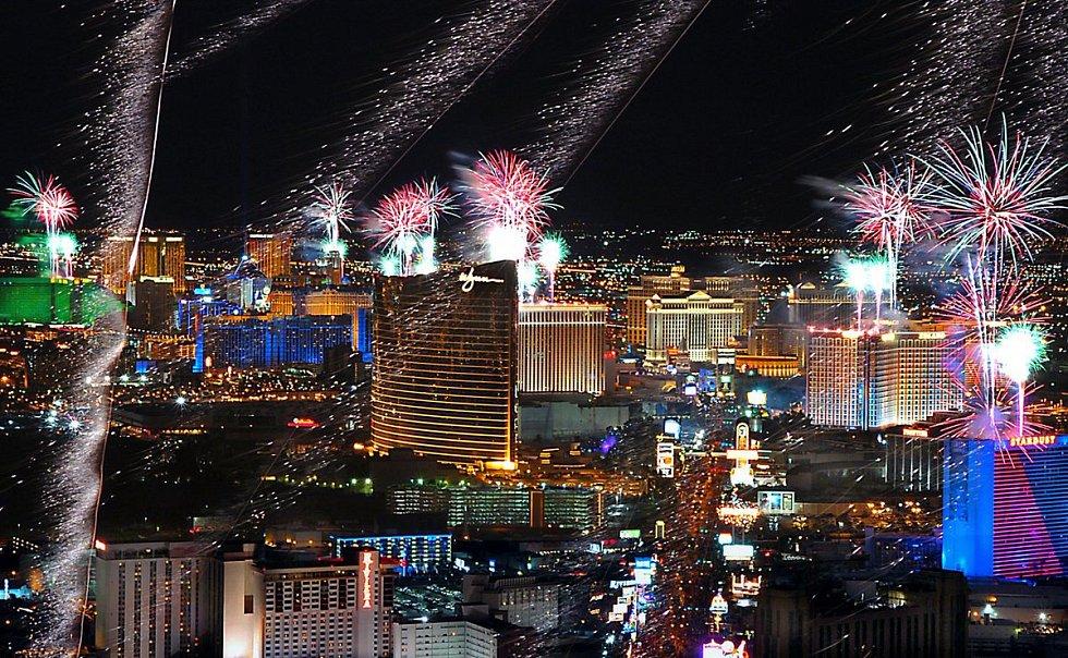 Novoroční oslavy v Las Vegas